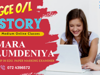 O/L History Online Individual / Group Tuition Classes