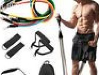 Resistance Bands Set Elastic Band Fitness Exercise Yoga Sport Home Gym