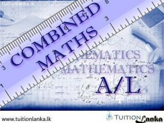 A/L Combined Mathematics