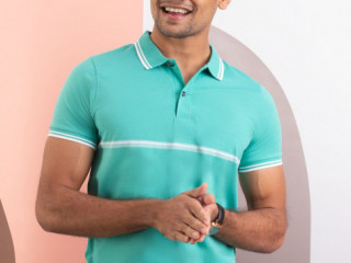 Fashion /EDGE MENS CASUAL STRIPED T-SHIRT in Sri lanka