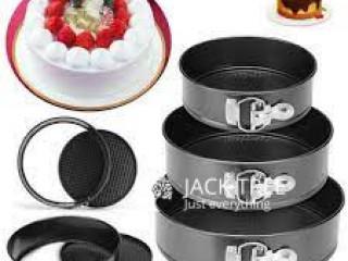 3 Pcs Cake Baking Mould Tray ( Round Shape ) High-temperature