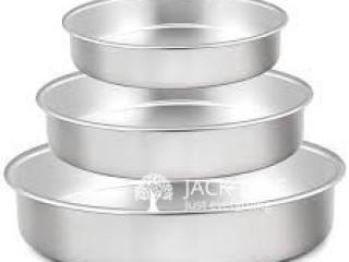 3 Pcs Aluminum Round Cake Tray Made of High-quality aluminum