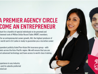 JOIN AIA SRI LANKA PREMIER AGENCY CIRCLE AS A WEALTH PLANNER
