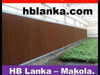 Air cooling pads systems for greenhouse srilanka, fans srilanka