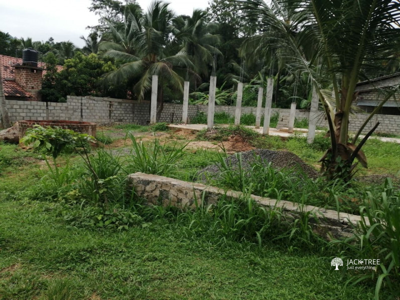 land-for-sale-in-polgahawela-with-construction-house-big-0