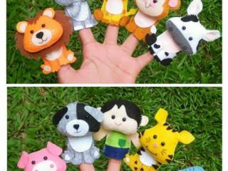 Handmade finger puppets අැති අැඟිලි රූකඩ