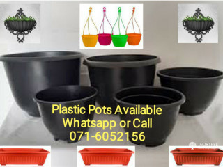 Plastic Pots Available. More designs & more sizes here it. Call..
