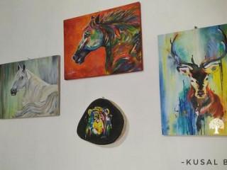 Hand made acrylic canvas painting (Made in Sri Lanka)