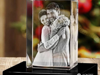 New laser crystal glass cubes (made in srilanka)