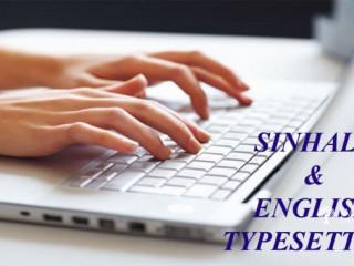 Sinhala & English Type Setting Data Entry work as Copy Paste work