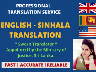 Local & Legal, Sinhala & Tamil translation solution and services