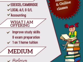 Accounting-A/l,O/l and EDEXCEL/CAMBRIDGE