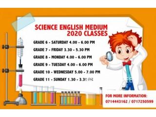 English & Sinhala Medium Science Class