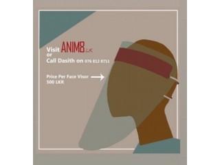 Face visors from anim8 (made in Sri Lanka)