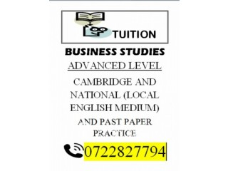 Tuition Classes for OL and AL students Cambridge and National Private