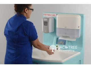 Portable Hand Wash Sink with Sensor Tap and Soap Dispenser