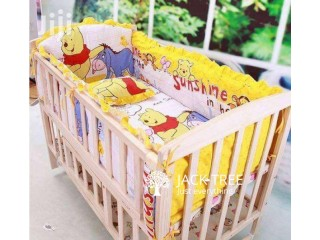 Baby Cot with Bumper for sale