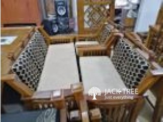 Sale For Teak Sofa Set 321 with Stool-TSS7015