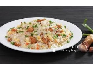 Special Fried Rice Sawan with Chilli Chicken