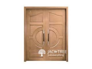 3D TEAK MODERN MAIN DOORS