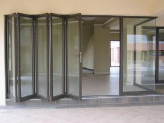 Aluminium fabricate slide fold door