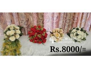 ARTIFICIAL FLOWER BOUQUETS ! BRAND NEW 4 BOUQUETS ALL 4 Boquets JUST ONLY FOR Rs.8000/= CALL / W