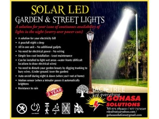 Solar LED Garden & Street Lights