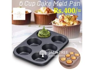 6 mould cup cake tray