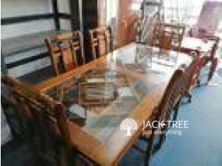 Teak Table and Chairs-6x3-TTC00101