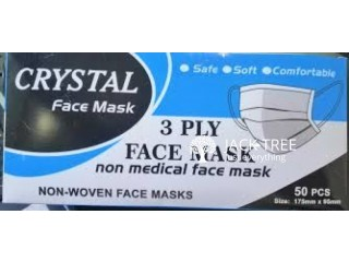 Crystal Non Medical 3 Ply Face Mask