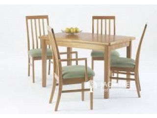 New Teak Glass Top Dinning Table with Chairs -S 935