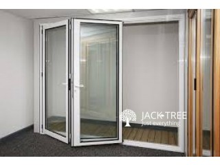 Alumex Aluminium Wood Finished Door