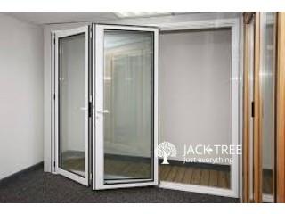 Alumex Aluminium Wood Finished Door
