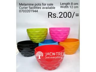 Melamine flower pots