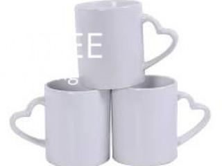 White Heart Epson Sublimation Mugs Mug T Shirt