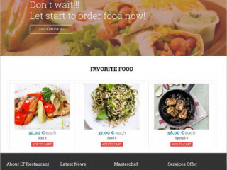 Restaurant Order Delivery Website