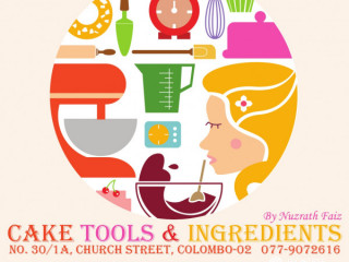 Cake tools and ingredients