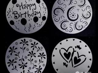 4 pcs cake stencils set