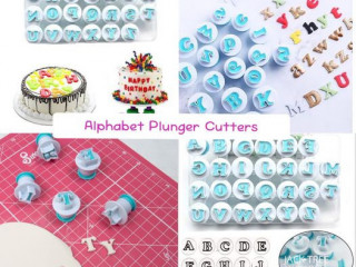 Mini alphabet plunger cutter set