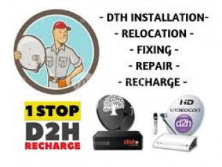 Dish Tv/ Dialog Sun direct/ Videocon repair & installation