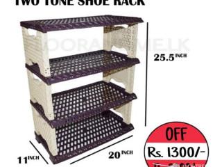 Two tone shoe rack