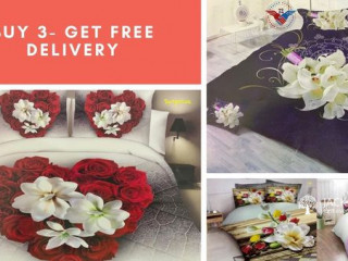 Smile with flowers Bedsheet
