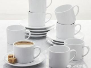 Elegant White Ceramic Tea Cup Sets.
