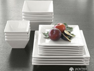 Legant White Ceramic Dinner Set