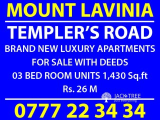 LUXURY APARTMENTS FOR SALE IN MOUNT LAVINIA