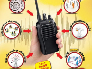 Rental two-way radio communication solutions (Walkie-Talkie) and services