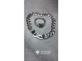 Silver rings and bracelets