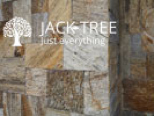 Wall cladding with natural stones