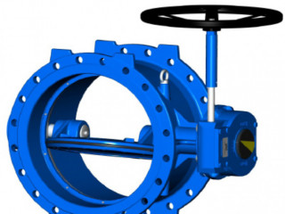 DOUBLE FLANGED BUTTERFLY VALVE DOUBLE ECCENTRIC DESIGN
