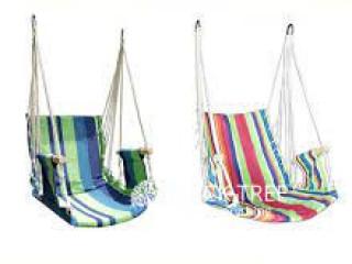 Garden Hammock Hanging Swing Chair Desk with Rope Sponge Interior Cradle
